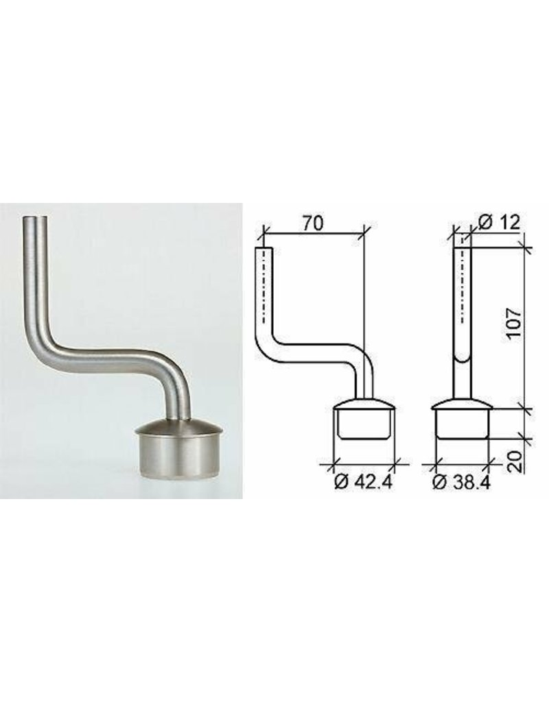 Triebenbacher Support main courante V2A pour tube 42.4x2mm