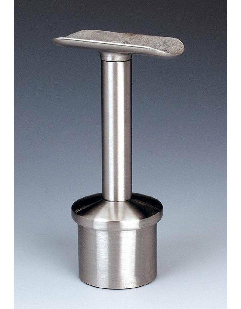 Triebenbacher Leuningdrager V2A met schelp voor ronde buis 42.4x2mm