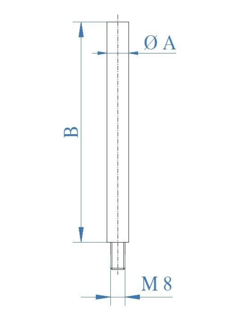 I AM Design Tige poli V2A