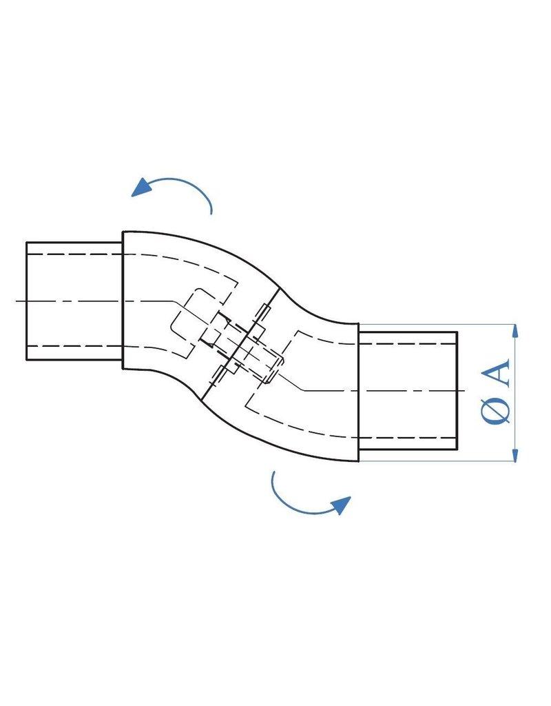 Triebenbacher Verbindingsstuk verstelbaar geslepen V2A
