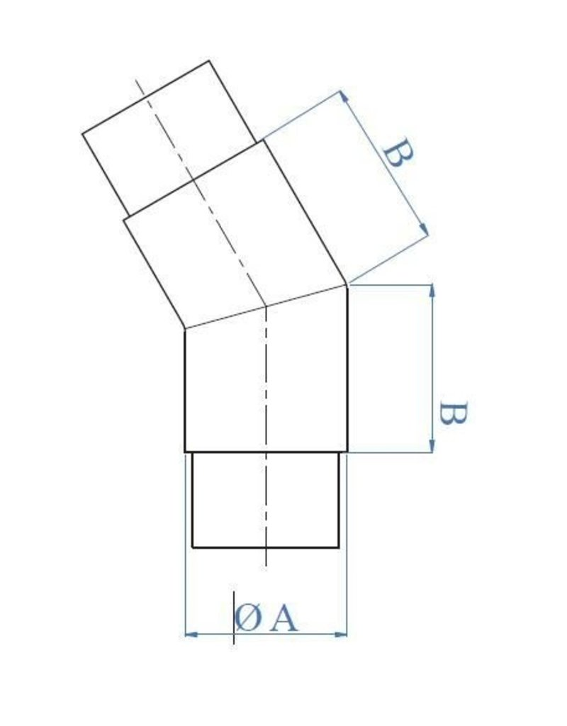 Triebenbacher Raccord 45° poli V2A