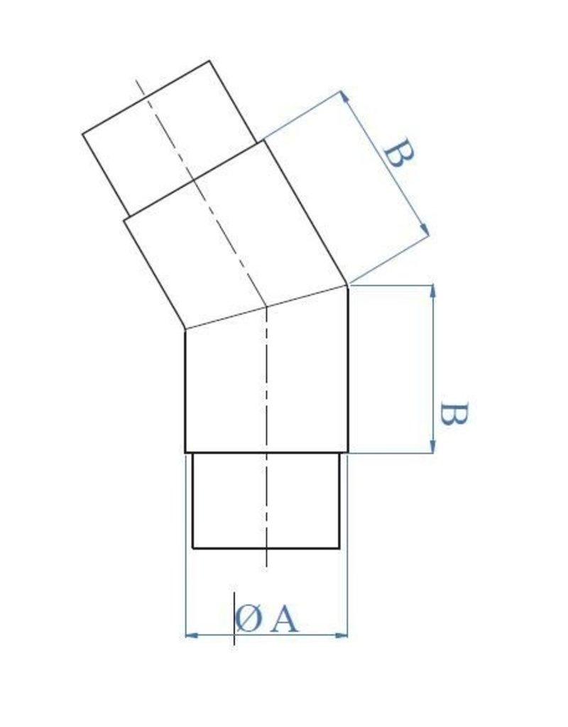 Triebenbacher Verbindingsstuk 45° geslepen V2A