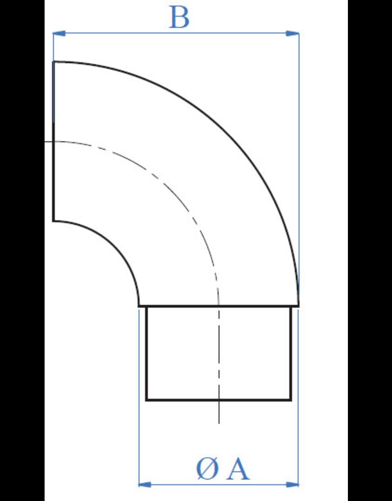 Triebenbacher Verbindingsstuk 90° V2A - 42.4mm