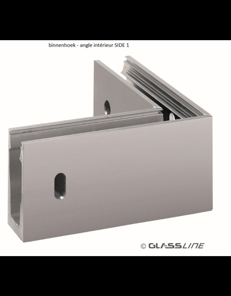 Glassline Glasbalustrade core hoek 90°  - SIDE 1