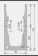 Glassline Garde-corps en verre Balardo Hybrid - 3000mm - SIDE 1
