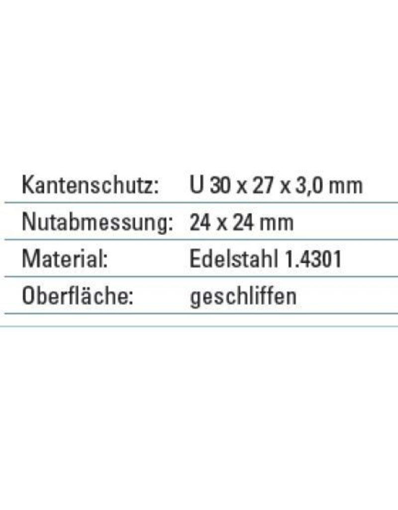 Main courante 30x27mm V2A 3000mm