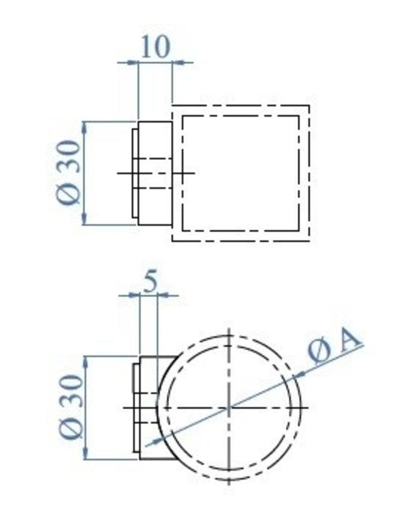 Triebenbacher Adapteur pour douille de distance 30x10mm