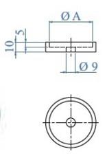 Triebenbacher Douille de distance V2A pour tube 42.4x2mm