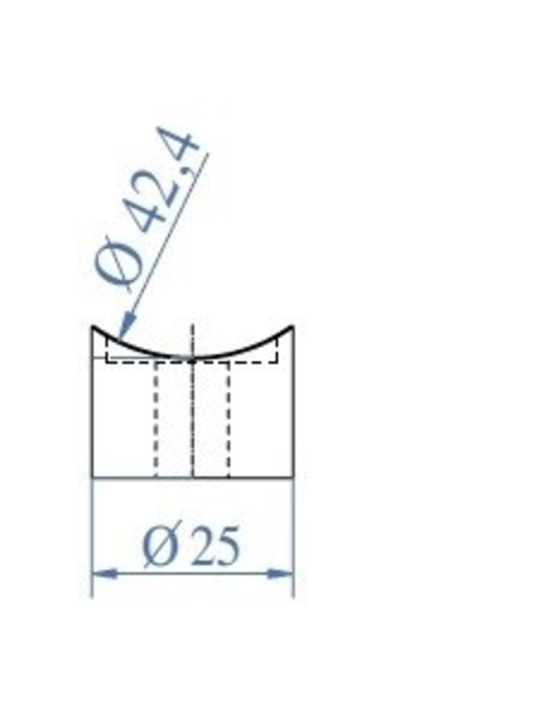 Triebenbacher afstandshouder V2A voor ronde buis 42.4mm