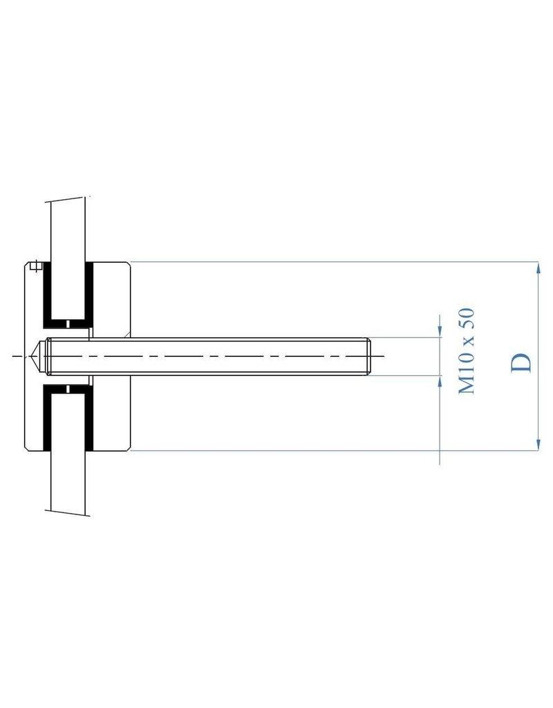puntglasklemhouder V4A voor glas 8 - 16.76mm