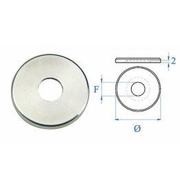 Triebenbacher Rosaçe poli V2A - dia 40mm - H 4mm