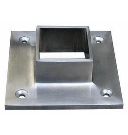 Platine d'ancrage au sol V2A pour carré 40x40x2mm
