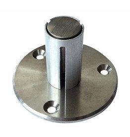 bodemanker V2A voor ronde buis 42.4mm