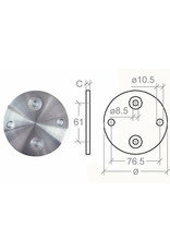 Wandbevestiging V2A - 100x6mm