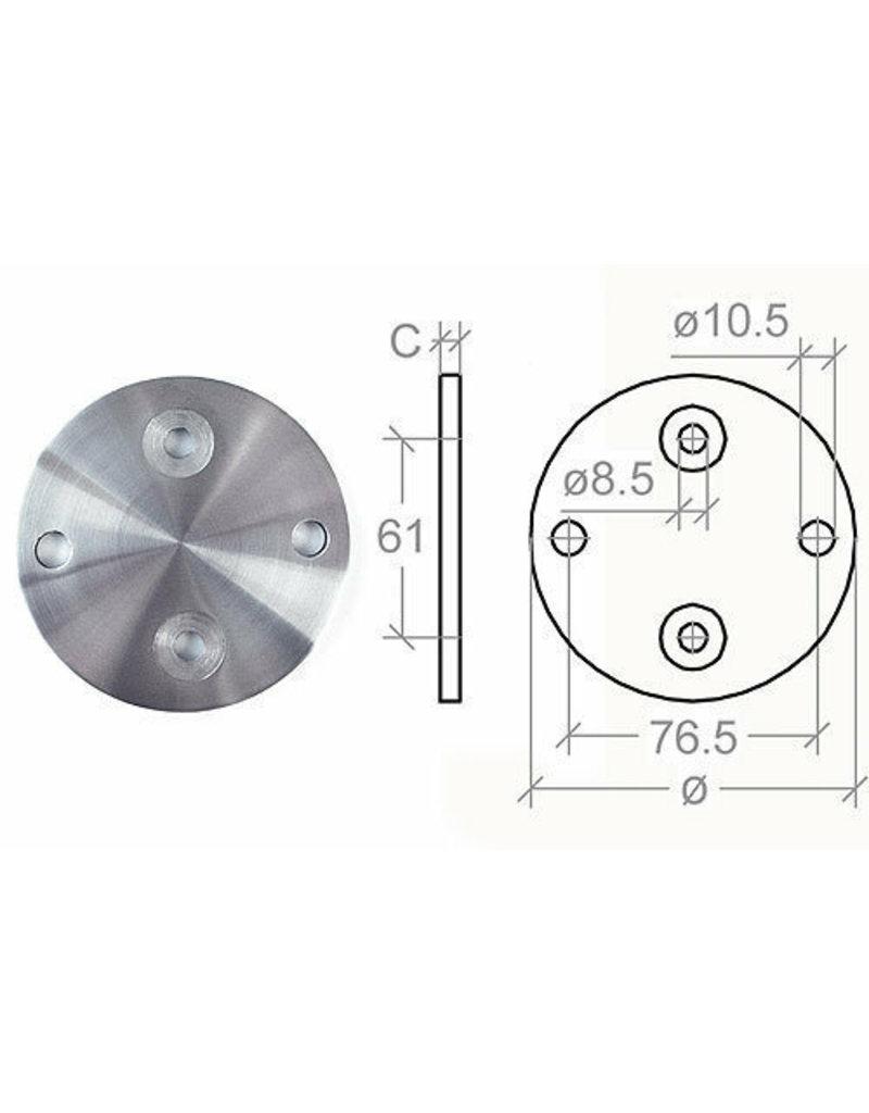 Platine de base V2A - 100x6mm