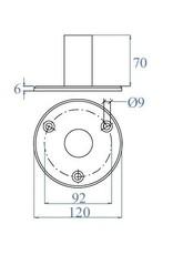 Triebenbacher bodemanker V2A voor ronde buis 42.4mm