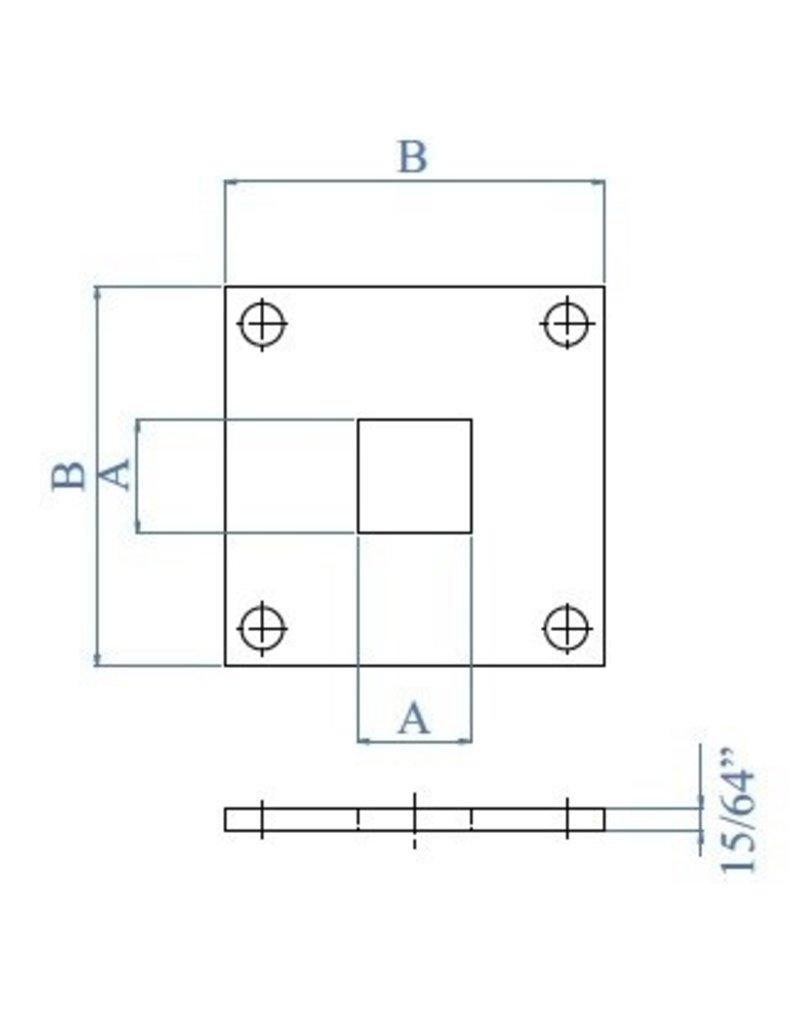 Platine de base V2A - 100x100x6mm