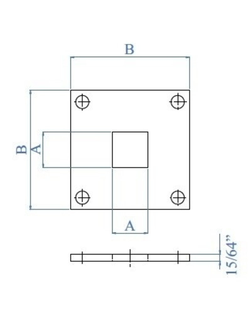 Triebenbacher Platine de base V2A - 100x100x6mm