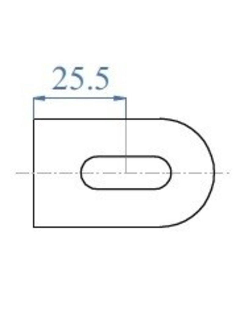 Languette à souder brut V2A - 50x30x5mm