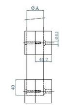 wandbevestiging set V2A