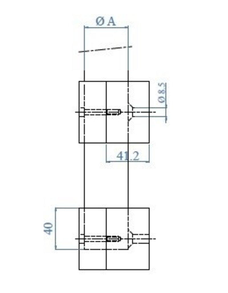 Triebenbacher wandbevestiging set V2A