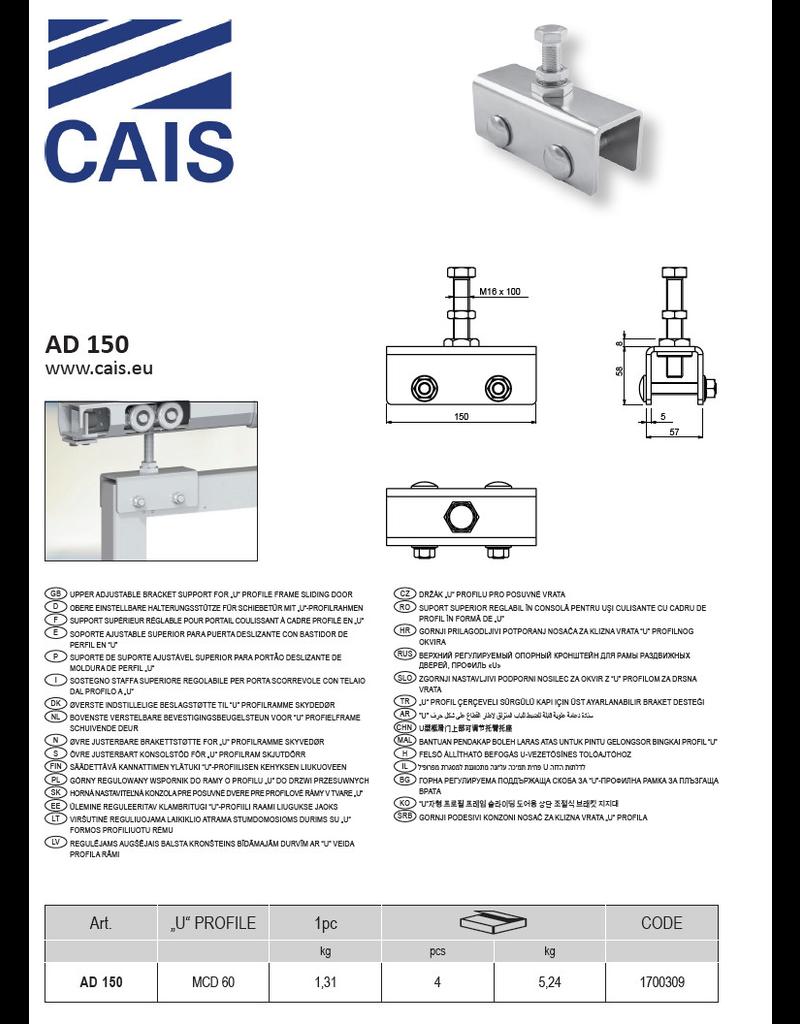 CAIS Bovenste verstelbare bevestigingsbeugelsteun