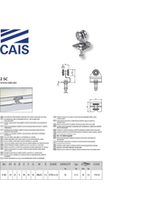 CAIS Chariot deux roues à roulement ouvert pour portes coulissantes et volets