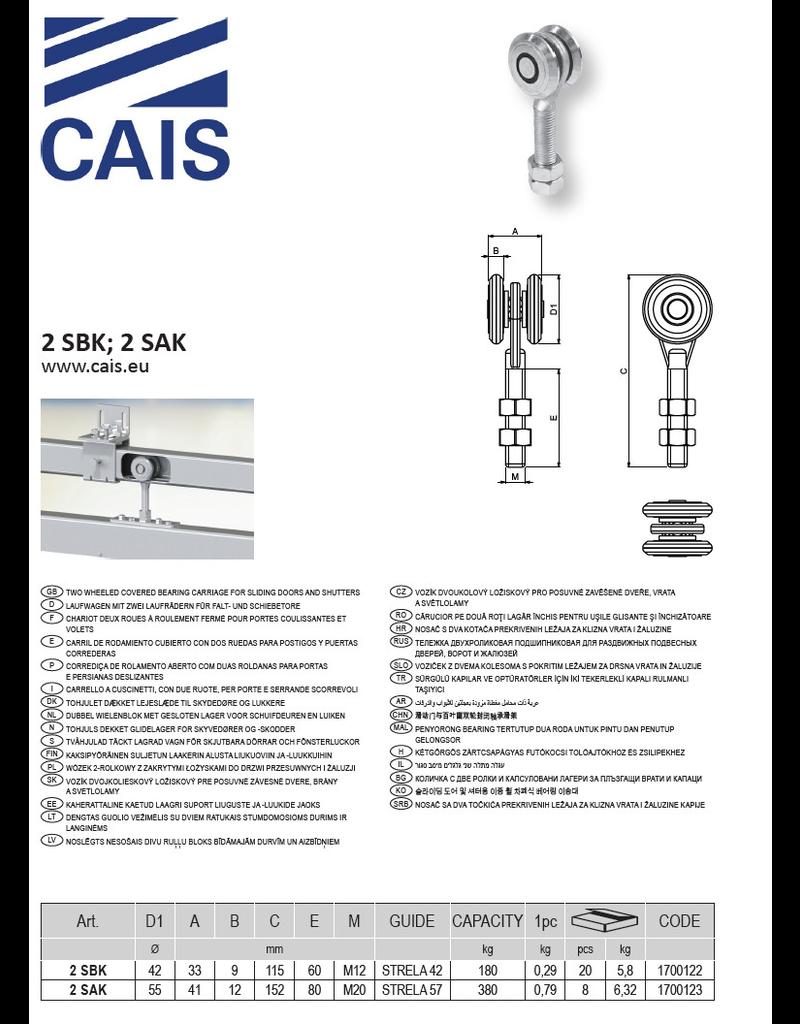 CAIS Dubbel wielenblok met gesloten lager