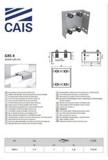 CAIS geleidingsplaat instelbaar met viervoudige roller