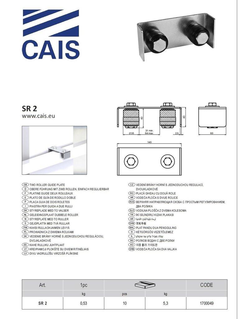 CAIS geleidingsplaat met dubbele roller