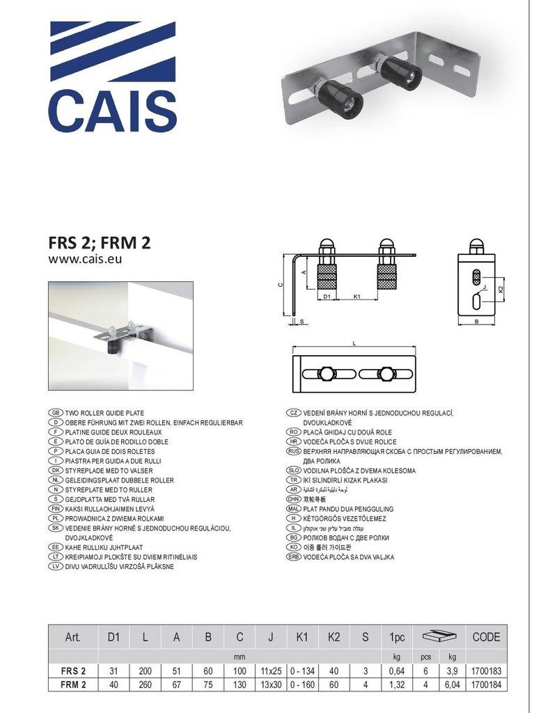 CAIS Platine guide deux rouleaux
