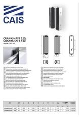 CAIS geleidingsplaat met rol voor boogvormige poort