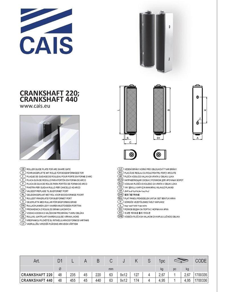 CAIS Plaque de guidage de rouleau pour porte en forme d'arc