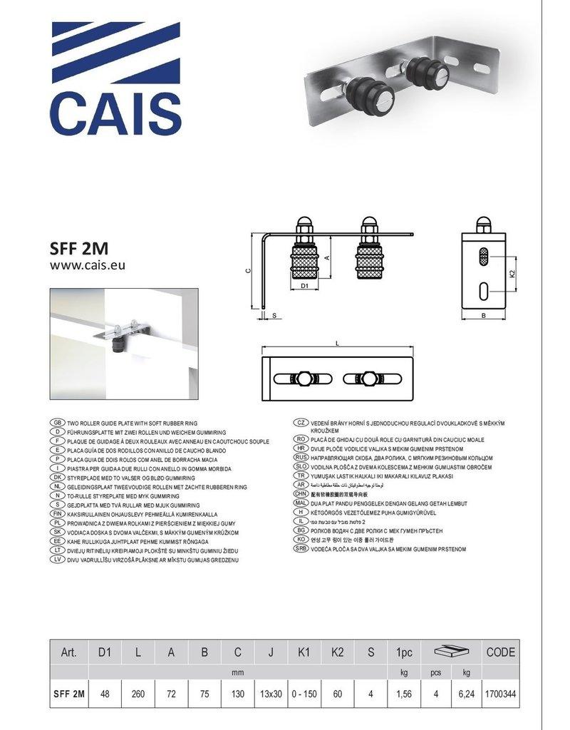 CAIS Plaque de guidage à deux rouleaux