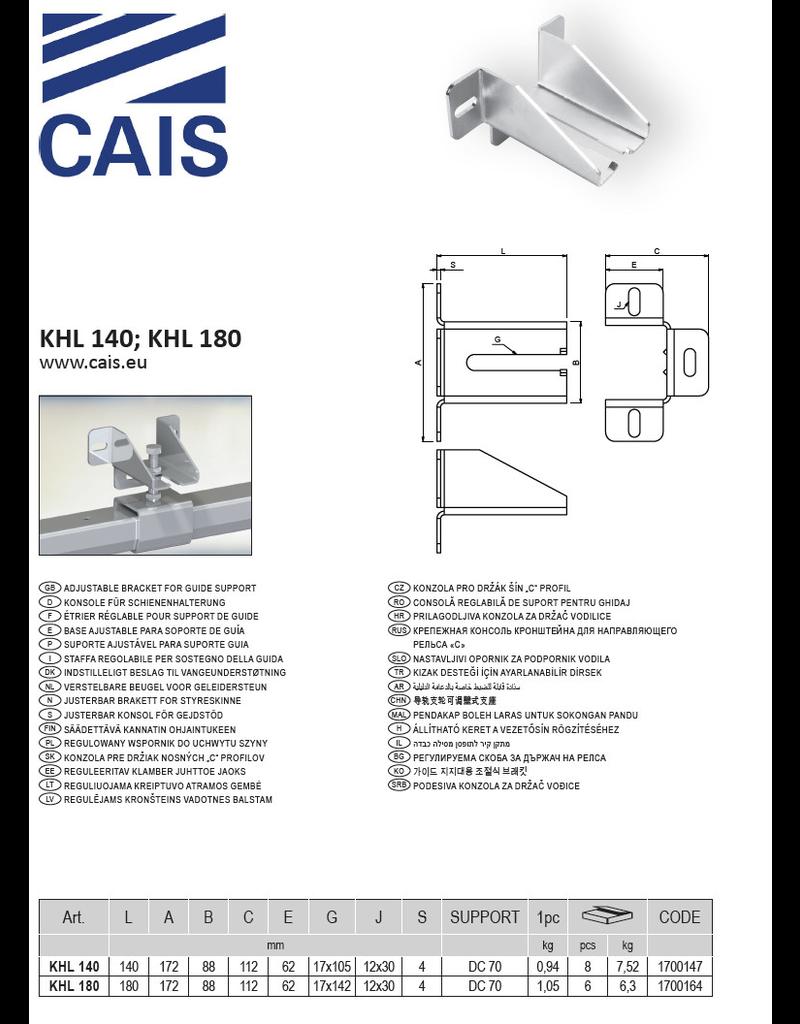 CAIS Verstelbare beugel voor geleidersteun