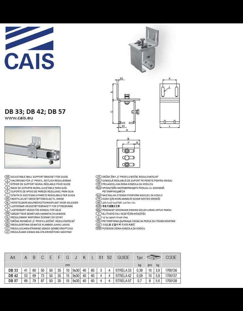 CAIS Verstelbare muurbevestigingsplaat voor geleider