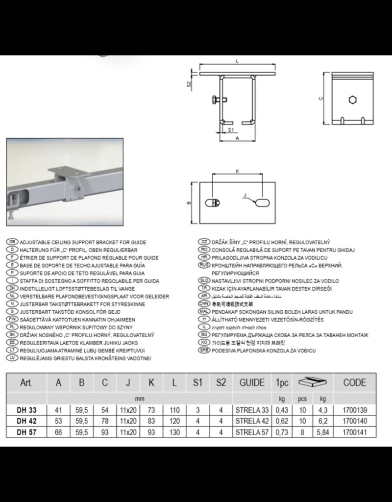CAIS Verstelbare plafondbevestigingsplaat voor geleider