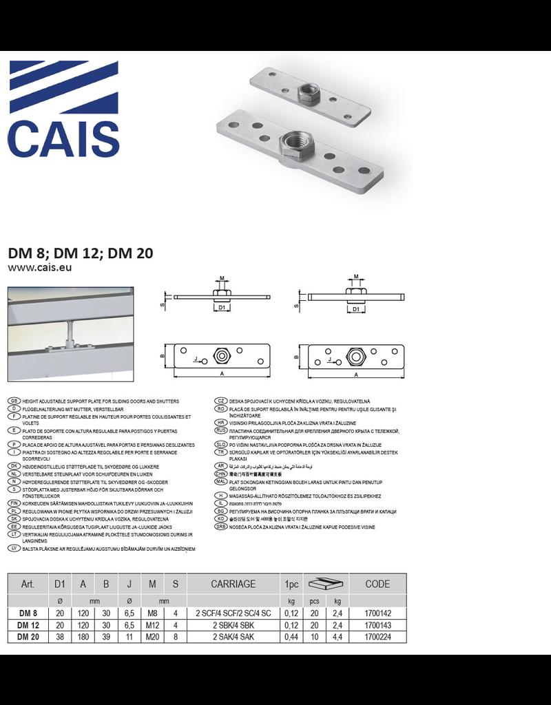 CAIS Verstelbare steunplaat voor schuifdeuren en luiken