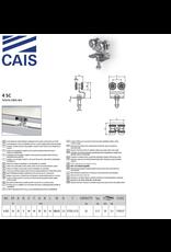 CAIS Viervoudig wielenblok M8 met open lager