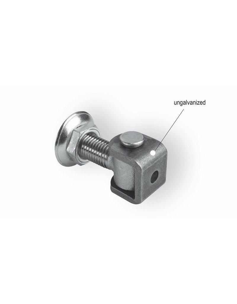 CAIS Gond réglable avec écrou et rondelle, soude, pour pilier en acier