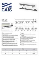 CAIS Kunststof tandlat met staalkern - met bevestiging