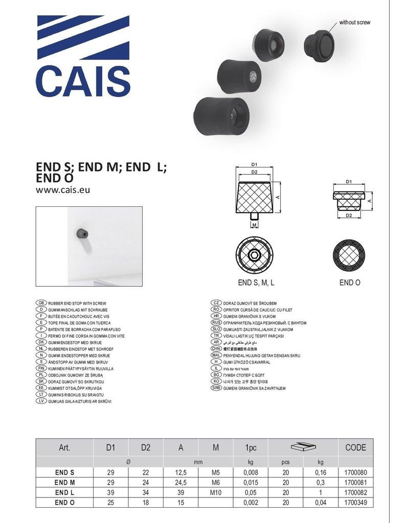 CAIS Rubberen eindstop met schroef