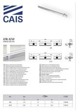 CAIS Stalen tandlat met bevestigingsstaven