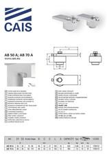 CAIS Bovenste scharnierplaat met druklager