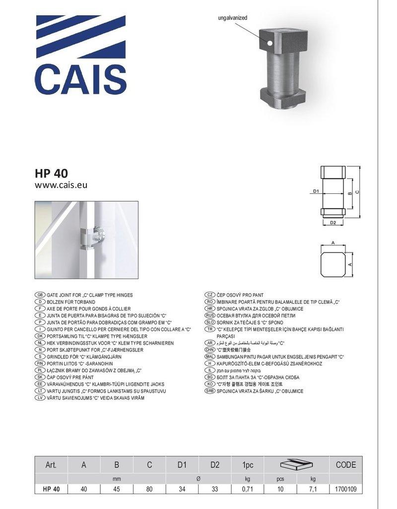 """CAIS Hek verbindingsstuk voor """"C"""" klem type scharnieren"""