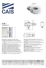 """CAIS Charnière de serrage réglable en """"C"""""""