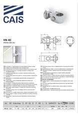 """CAIS Verstelbare """"C"""" klemscharnier M24"""