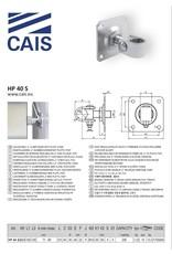 """CAIS Verstelbaar """"C"""" klemscharnier M24 met plaat"""