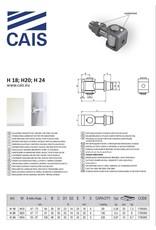 CAIS Gond réglable avec écrou, soude, pour pilier en acier