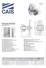 CAIS Verstelbaar scharnier met plaat - vastgeschroefd